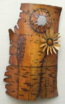 Aspen Bark with Sunflower